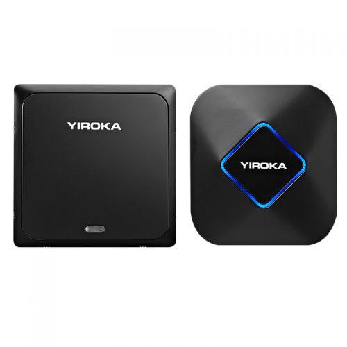 盈润佳(YIROKA)一拖一自发电无线数码门铃DQ-658(黑色)