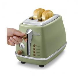 德龙(Delonghi)多士炉面包机CTO2003.VGR(橄榄绿)