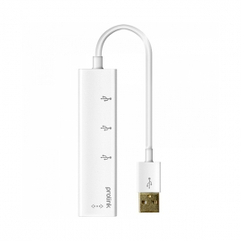 普罗林克(prolink) MP300 USB 转RJ45网络接口加 USB HUB 分配器(免驱) 0.15米