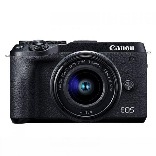 佳能(Canon)EOS M6 Mark II(15-45镜头)3250万像素微单套机Vlog视频拍摄(黑色)
