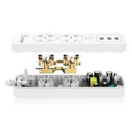 飞利浦(Philips)二位总控带USB电源转换器 SPS1212Q/93(1.6米)