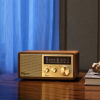 山进(SANGEAN)台式蓝牙音箱收音机WR-11BT布鲁斯(胡桃木)