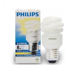 飞利浦(Philips)8W 大头暖光标准螺旋节能灯