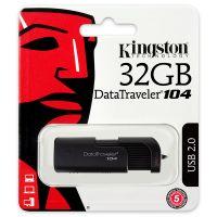金士顿(Kingston)DataTraveler 104 32GB U盘(黑色)【特价商品,非质量问题不退不换,售完即止】【清仓折扣】