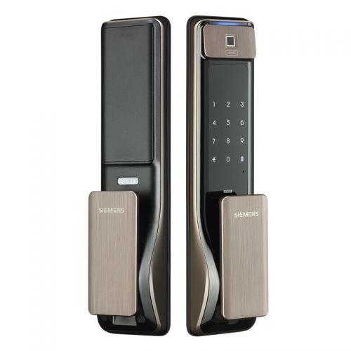 西门子(SIEMENS)智能门锁  家用防盗电子密码指纹锁 C621(香槟金)