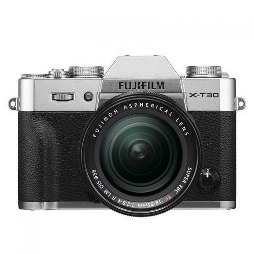 富士(FUJIFILM)X-T30 微单相机套装(18-55mm)银色