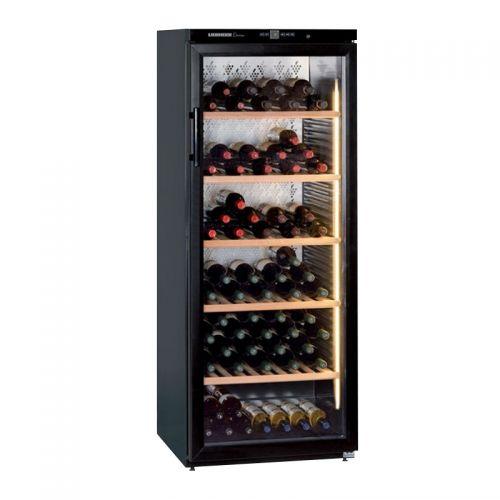 产地马来西亚 进口利勃海尔(Liebherr)395升独立式藏酒柜红酒柜 WKb4112(黑色)