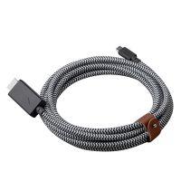 NATIVE UNION 3米TypeC转HDMI高清视频连接线(斑马纹)