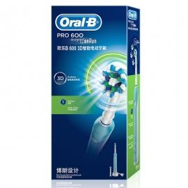 产地德国 进口博朗(BRAUN)欧乐B  PRO 600 3D智能电动牙刷 D16.523U(蓝色)】