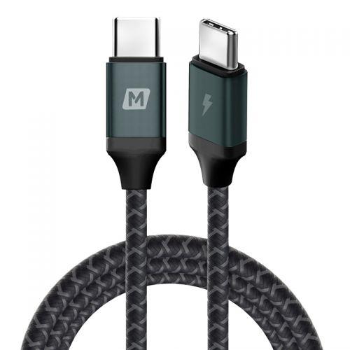 摩米士(Momax)电脑编织数据线 2m Type-C to Type-C接口 DC18E(深空灰)