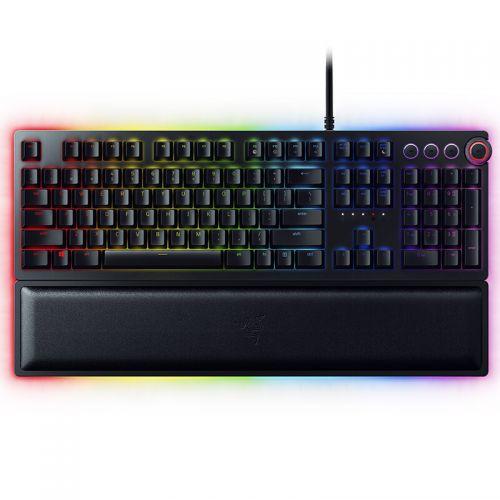 雷蛇(Razer)猎魂光蛛精英版-光轴机械幻彩游戏键盘RZ03-01870100-R3M1(黑色)