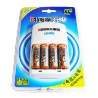 【淘汰下架】南孚(Nanfu) 充电电池套装 镍氢充电器 AA-4B+充电王 NFCK0309 (白色)