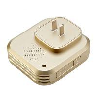 盈润佳(YIROKA)自发电无线数码门铃Q-688-2一拖二 防水电子远距离遥控智能呼叫器 (香槟金色)