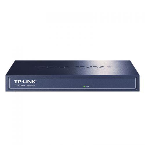 普联(TP-LINK)8口全千兆网管交换机TL-SG2008(蓝色)