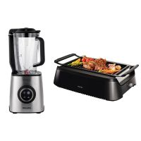 套装:飞利浦(Philips)西式室内电炙烤炉HD6371/91 + 真空破壁料理机HR3752/00