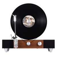 格莱美(Gramovox)竖立式蓝牙黑胶播放机 FLOATING RECORD PLAYER(胡桃木色)