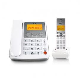 TCL HWDCD868(39) 数字无绳电话机中文显示免提通话一拖一电话子母机(雅致白)