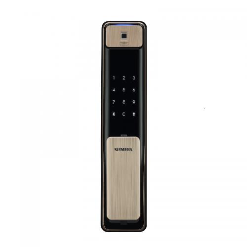 产地 韩国 进口 西门子(SIEMENS)智能门锁  家用防盗电子密码指纹锁 C621(香槟金)