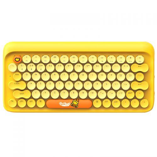 洛斐(Lofree)小黄鸭 B.Duck DOT圆点 蓝牙机械键盘(黄色)EH112S