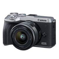 佳能(Canon)EOS M6 Mark II 微单相机套机 (EF-M 15-45mm f/3.5-6.3 IS STM) 银色
