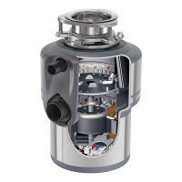 产地美国 进口爱适易(ISE)食物垃圾处理器 E200 可接洗碗机(银色)
