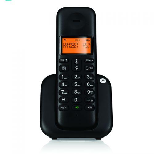 摩托罗拉(Motorola)数字无绳单机中文按键办公家用无线电话机T301C(黑色)