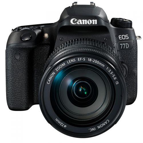 【特价商品,非质量问题不退不换,售完即止】产地日本 进口佳能(Canon)单反套机EOS77D(EF-S 18-200mm f/3.5-5.6)【清仓折扣】