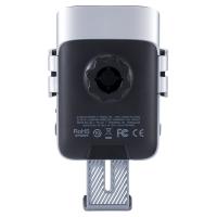 摩米士(Momax)15W红外智能感应无线充电车载支架套装CM12S(银色)