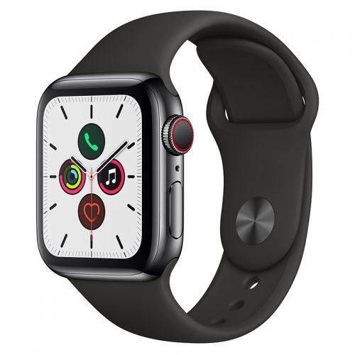 Apple Watch Series 5 44mm GPS+蜂窝版深空黑不锈钢表壳智能手表