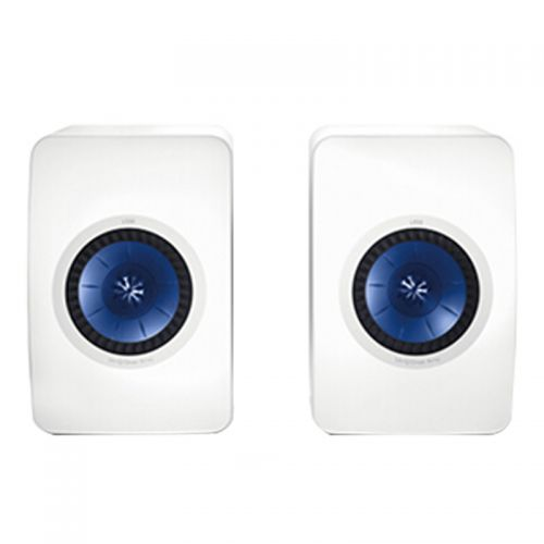 KEF LS50 高保真书架音箱一对 2.0无源同轴音箱(白色)