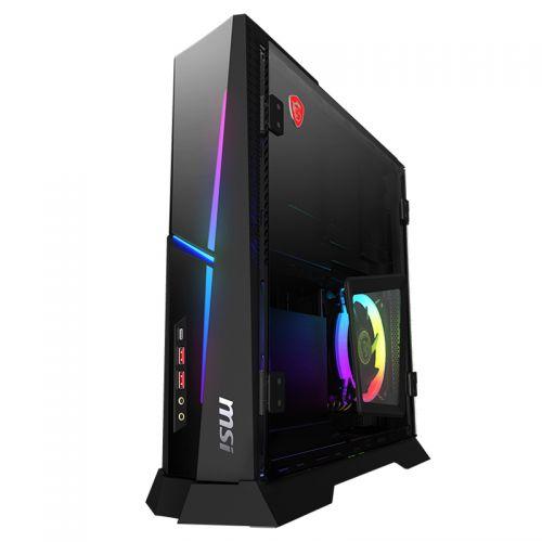 微星(MSI)海皇戟 Trident A Plus 游戏迷你台式主机(i5-9400F 8G 128GB+1TB GTX1660Ti)黑色