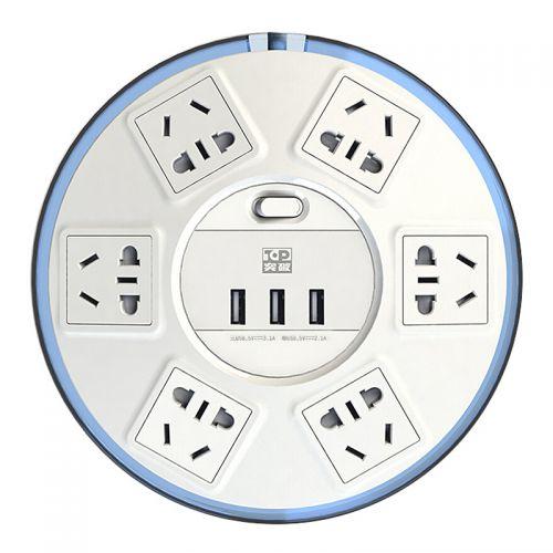 突破(TOP) 清月1.8米电源转换器 SR21plus 智能插座六位防雷 带USB