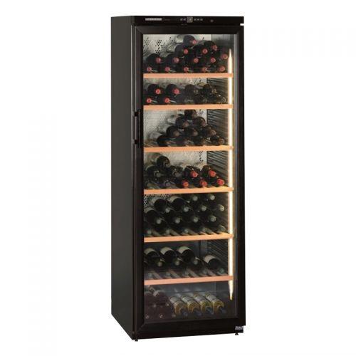 产地马来西亚 进口利勃海尔(Liebherr)453升控温防震独立式藏酒柜红酒柜 Wkb4612(黑色)