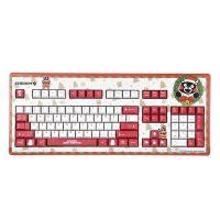 樱桃(Cherry)熊本熊游戏办公机械键盘 有线红轴键盘圣诞版G80-3494 (红色)